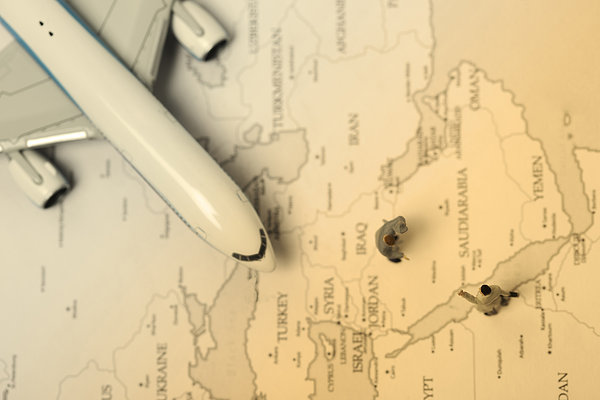 商务,男人,飞机,世界地图