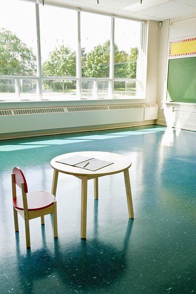 椅子和桌子在教室