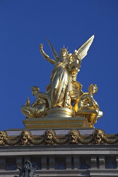 雕塑,加尼叶歌剧院,巴黎,法国-全景图片-读图时代