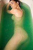 肖像,裸露,女人,沐浴