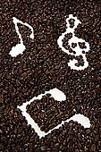 音符,咖啡