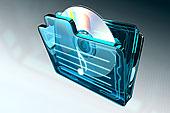 光盘,文件夹,音符