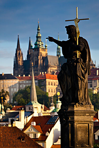 雕塑,查理大桥,布拉格