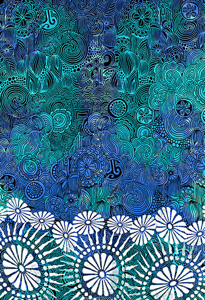 水蓝色的复杂的设计
