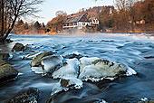 半木结构的房子,乌珀河河,附近的,北威州,德国