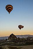 土耳其,中央安纳托利亚,卡帕多西亚,图,热气球,旅游