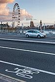 滑铁卢桥,伦敦眼,房子,背景,伦敦,英国