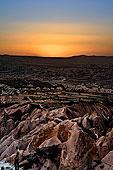 火鸡,土耳其,中安那托利亚,卡帕多西亚,日落,俯视,上方,岩石构造