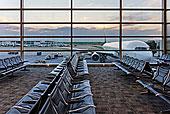 机场休息室,飞机,水平,大门,底特律,城市,韦恩县,机场,密歇根,美国
