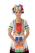中国少数民族哈尼族女人