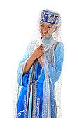 中国少数民族回族女人