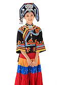 中国少数民族彝族女人