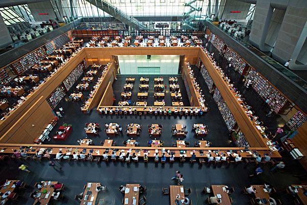北京国家图书馆内景
