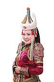 一个蒙古族少女