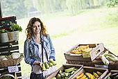 蔬菜 农场 美女
