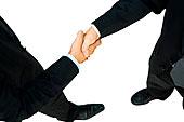 照片,握手,合作伙伴