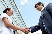 图像,成功,伙伴,握手,惊人,交易