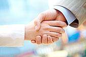 握手,合作伙伴,签写,合同