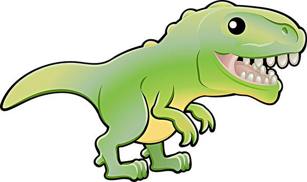 可爱的霸王龙的恐龙插图