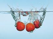 西红柿,溅,水中
