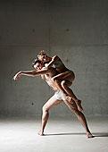 芭蕾舞者,姿势,一起