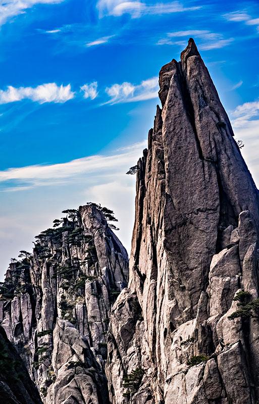 安徽省黄山市黄山风景区石笋奇石自然景观_全景网