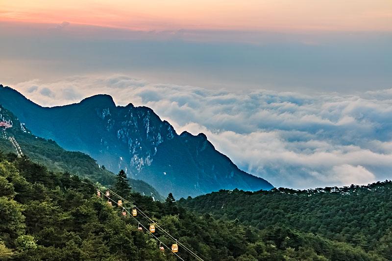 江西省九江市庐山含鄱口风景区自然景观