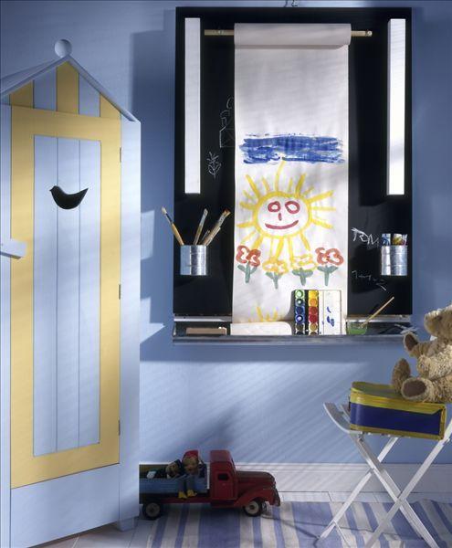 幼儿园布置的蓝色调
