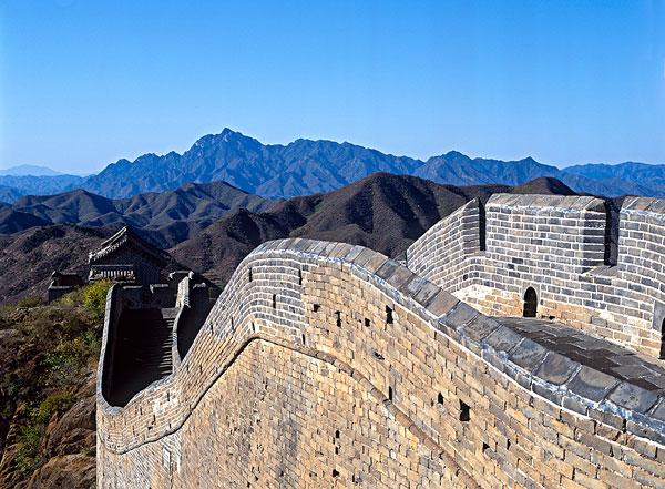 长城的建筑结构示意图