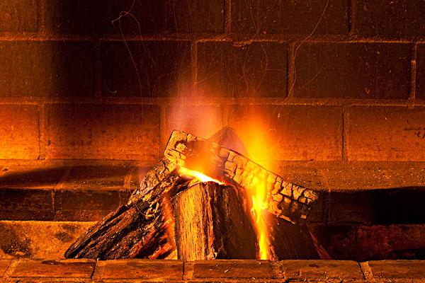 大,木头,燃烧
