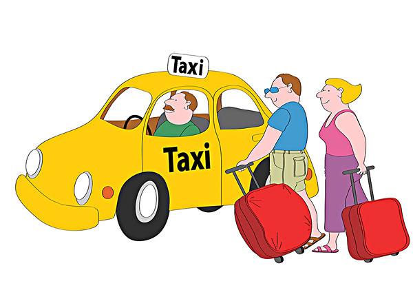 卡通出租车图图片