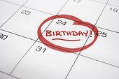 日历,生日