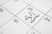 日历,飞机
