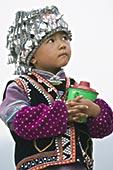 男孩,衣服,哈尼族,少数民族,传统服装,元阳,云南,中国,亚洲