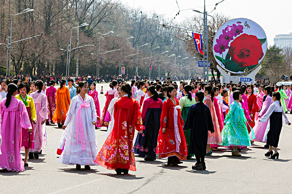 设计元素 >朝鲜美女  女人,传统,服装,跳舞,街道,庆贺,周年纪念,出生
