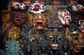 中央市场,展示,木质,面具