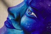 招牌,蓝色,图像,广告,狂欢,面具