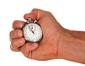 握着,秒表