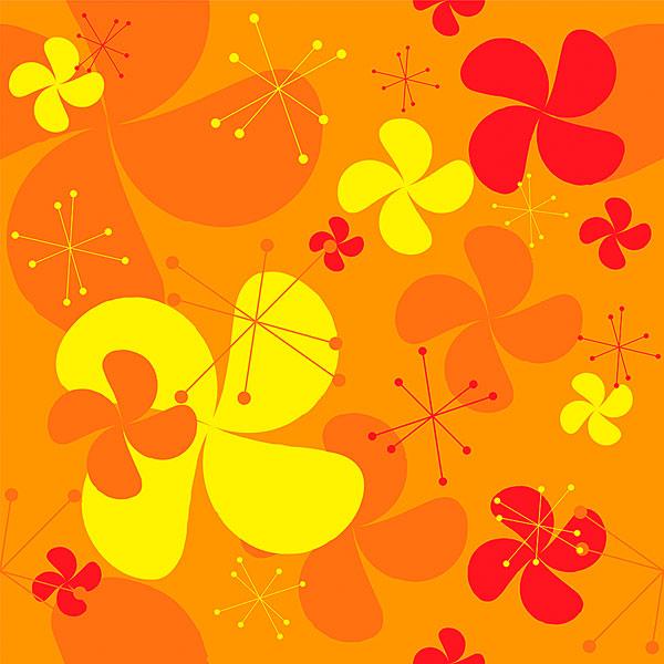 橙色背景-ppt背景
