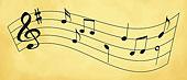 块,音乐,黑色,音符,上面