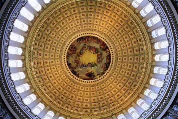 仰视,天花板,图书馆,国会图书馆