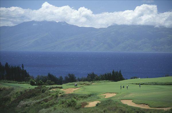 高尔夫球场,美国,夏威夷,毛伊岛,卡帕鲁亚湾,种植园