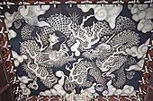 绘画,龙,天花板,庙宇,京都府,近畿地区,本州,日本