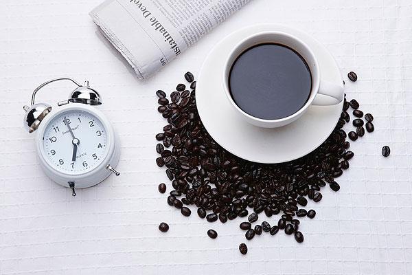 标题:早晨咖啡生活