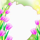 春天花信纸图片