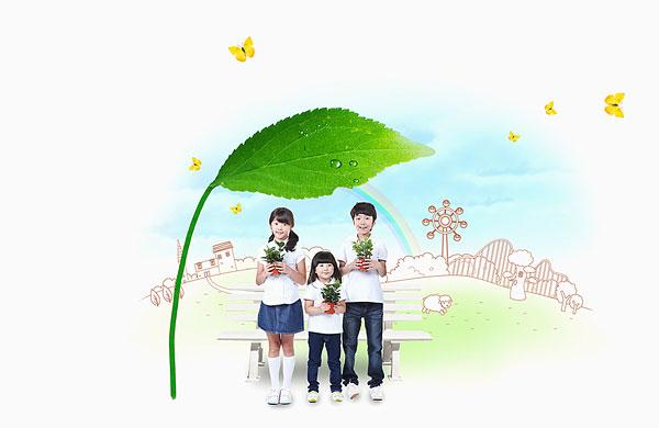 孩子劳动与未来矢量图