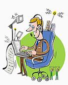 卡通,首席执行官,笔记本电脑