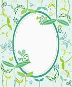 绿色,排列,椭圆,芽
