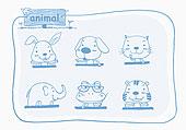 插画,象征,动物