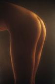 年轻,女人,裸露,臀部